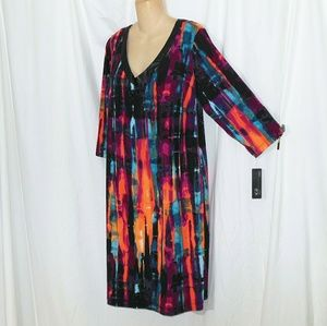 NWT AGB Gorgeous Multicolored Dress Size 18W